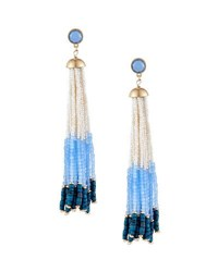 Lydell Nyc Multihued Beaded Tassel Earrings Light Blue