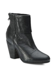 Rag And Bone Classic Newbury Leather Ankle Boots Deep Brown Black