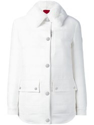Moncler Gamme Rouge Fur Collar Jacket White