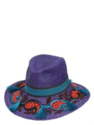 Etro Embroidered Straw Panama Hat
