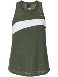 The Upside Perforated Tank Top Green