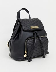 Miss Kg Quilted Backpack Black