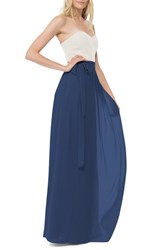 Women's Ceremony By Joanna August 'Whitney' Chiffon Wrap Maxi Skirt Tangled Up In Blue