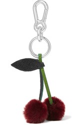Autumn Cph Stingray Trimmed Shearling Keychain Merlot
