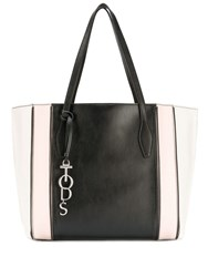 Tod's Panelled Tote Bag Black