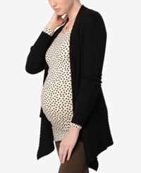 Autumn Cashmere Maternity Open Front Cardigan Ebony
