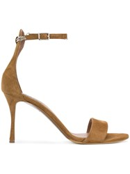 Tabitha Simmons Ankle Chain Sandals Brown