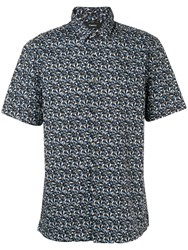 Theory Irving Optic Print Shirt Blue
