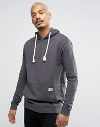 Redefined Rebel Hoodie With Oversized Pocket Antrasit Grey