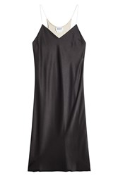 Dkny Satin Slip Dress Black