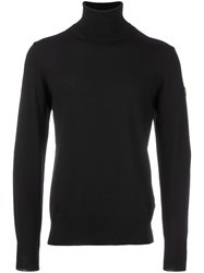 Emporio Armani Ea7 Turtleneck Jumper Black