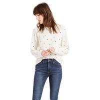 Levi's Boyfriend Embroidered Sweatshirt Koto Marshmallow