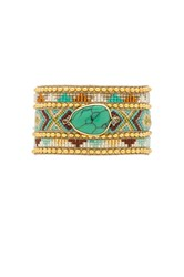 Hipanema Jaya Twin Bracelet Metallic Gold
