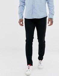 Selected Homme Slim Fit Organic Cotton Jeans In Black Wash