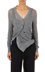 Ann Demeulemeester Colorblocked Asymmetric Double Breasted Cardigan Mu Multi