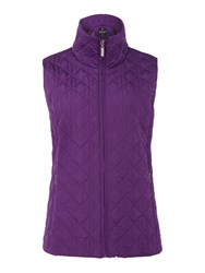 Tigi Diamond Quilt Gilet Purple
