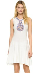 Giambattista Valli Sleeveless Dress White Pink Blue