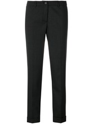 Fabiana Filippi Cropped Trousers Cotton Polyester Spandex Elastane Virgin Wool Black