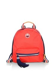 Tory Burch Embroidered Backpack Navy Cherry App