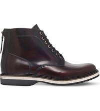 Kg By Kurt Geiger Moore Leather Boots Wine