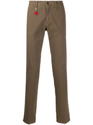 Manuel Ritz Slim Fit Tailored Trousers Brown