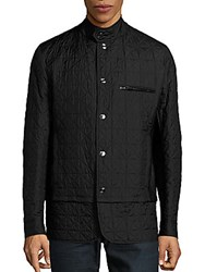 Brioni Convertible Quilted Jacket Black
