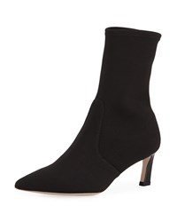 Stuart Weitzman Rapture 55Mm Stretch Sock Bootie Black