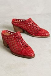 Anthropologie Jeffrey Campbell Armadillo Mules Red