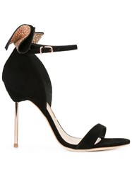 Sophia Webster Glitter Embellished Sandals Black