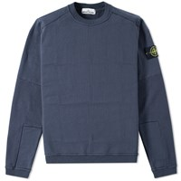 Stone Island Elbow Patch Crew Knit Blue