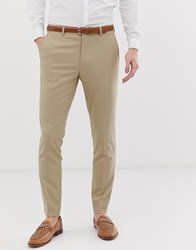 Only And Sons Slim Suit Trousers Beige