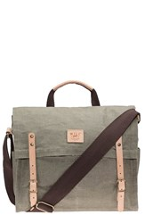 Men's Will Leather Goods Waxed Canvas Messenger Bag