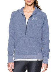 Under Armour Cotton Blend Fleece Hoodie Blue