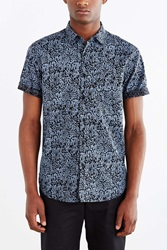 Your Neighbors Short Sleeve Kieran Printed Button Down Shirt Black