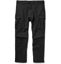 White Mountaineering Cotton Blend Twill Cargo Trousers Gray