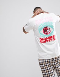 Diamond Supply Co. T Shirt With Back Print White