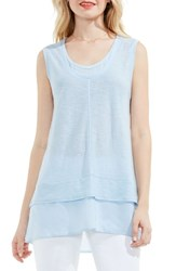 Vince Camuto Women's Two By Double Layer Top Dew Blue