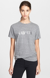 Rodarte 'Radarte' Short Sleeve Crewneck Tee Heather Grey