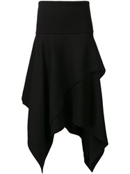 J.W.Anderson High Waisted Asymmetric Skirt Black