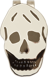 Alexander Mcqueen Black And White Silver Skull Money Clip