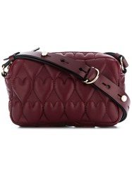 Red Valentino Heart Quilted Crossbody Red