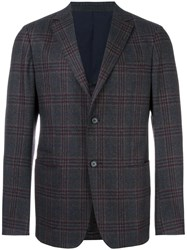 Z Zegna Checked Blazer Grey