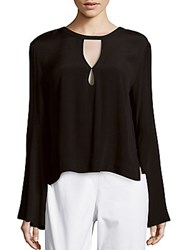 Minkpink First Love Long Sleeve Blouse Black