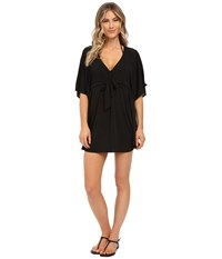 Seafolly Tail Spin Kaftan Cover Up Black Women's Swimwear