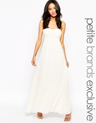 True Decadence Petite Bandeau Maxi Dress Cream
