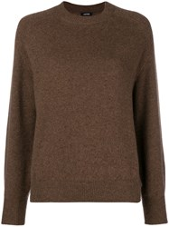 Aspesi Loose Knitted Jumper Brown