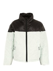 Adidas By Alexander Wang Double Layered Nylon Down Jacket White Black
