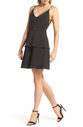 Adelyn Rae Tamika Sleeveless Fit And Flare Dress Black