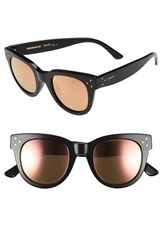Spektre Women's 'She Loves You' 47Mm Sunglasses Black Rose Gold Mirror Black Rose Gold Mirror