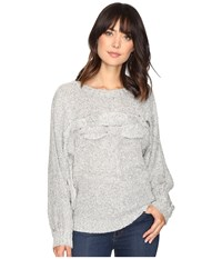 Brigitte Bailey Janiya Oversized Knit Sweater Grey Women's Sweater Gray
